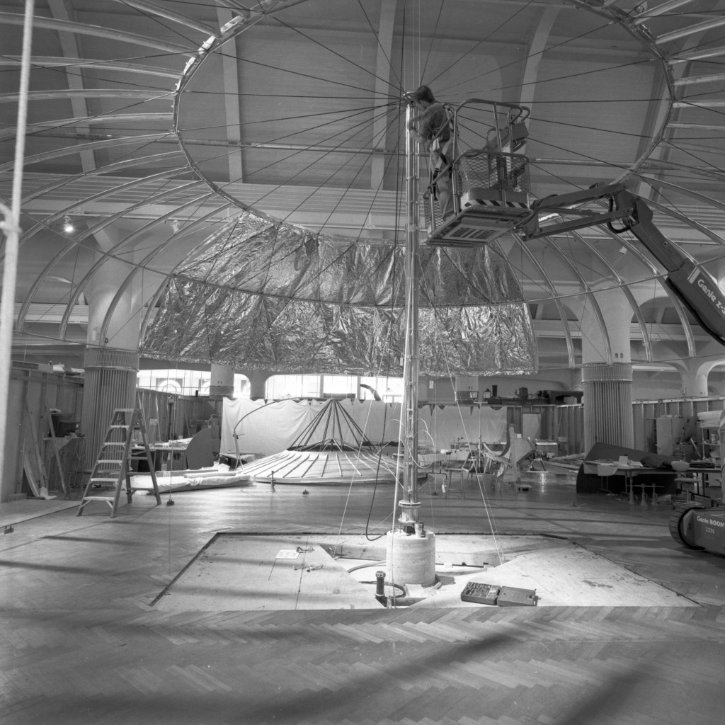 Dymaxion House construction inside Henry Ford Museum - December 2000