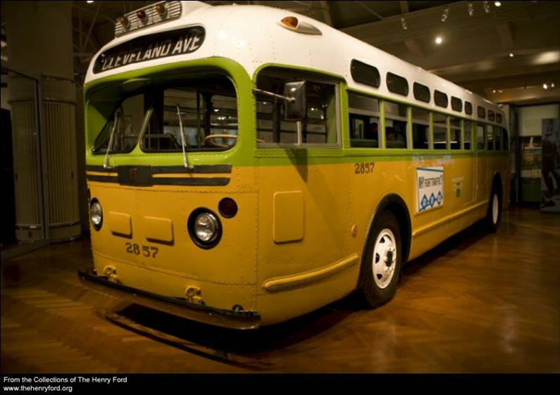 Rosa Parks bus - Photo by Michelle Andonian