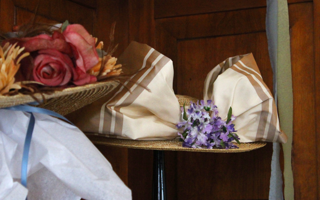 Hats for sale in Mrs. Cohen's Millinery