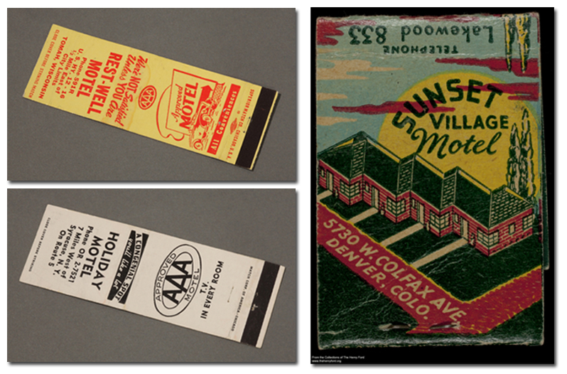 Motel matchbooks - from the Collections at The Henry Ford