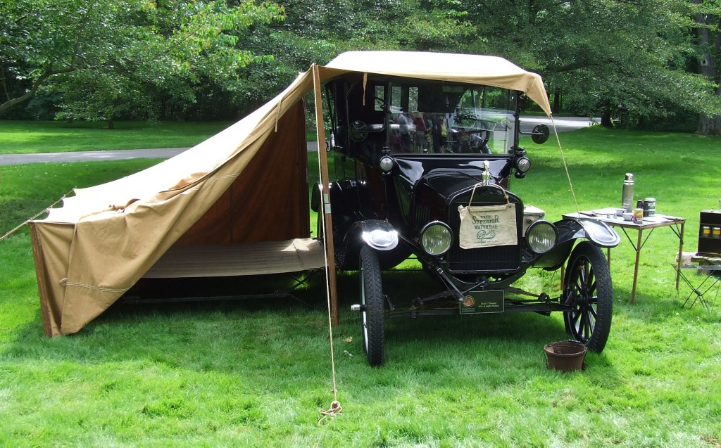 Model T Touring with tent