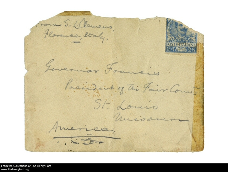 Mark Twain letter from auction