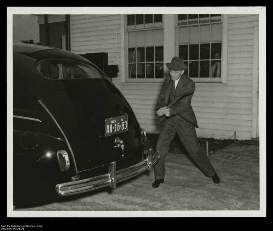 Henry Ford Tests Bumper Strength