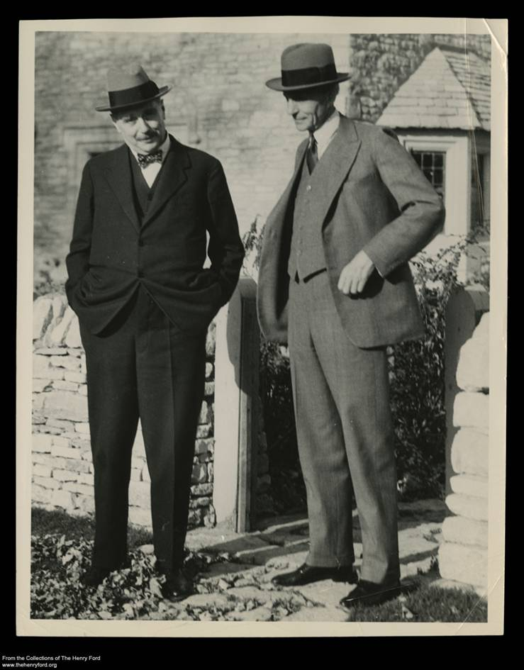 Henry Ford and HG Wells