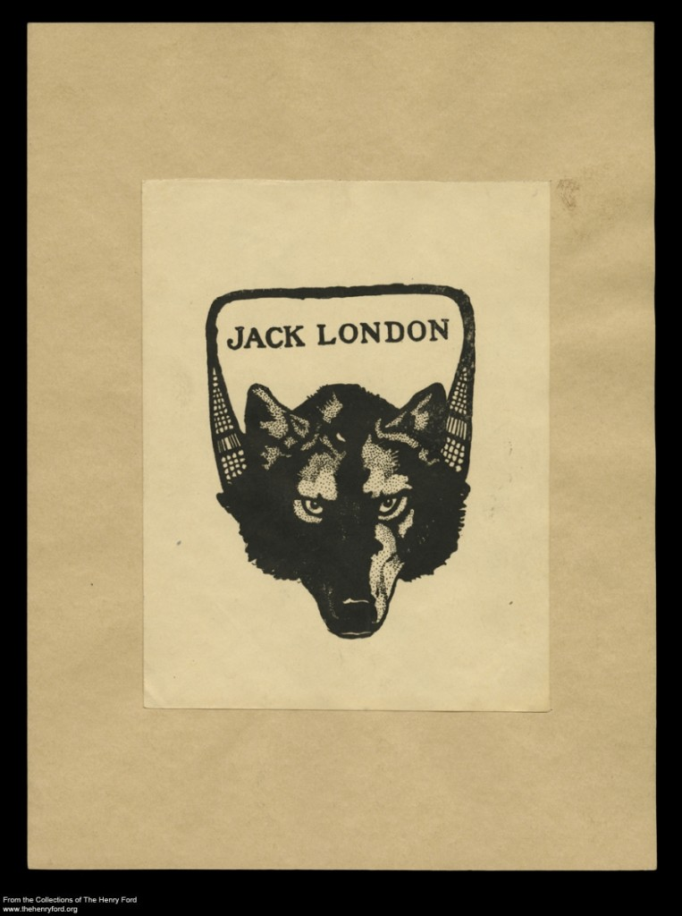 Bookplate of Author Jack London, circa 1905
