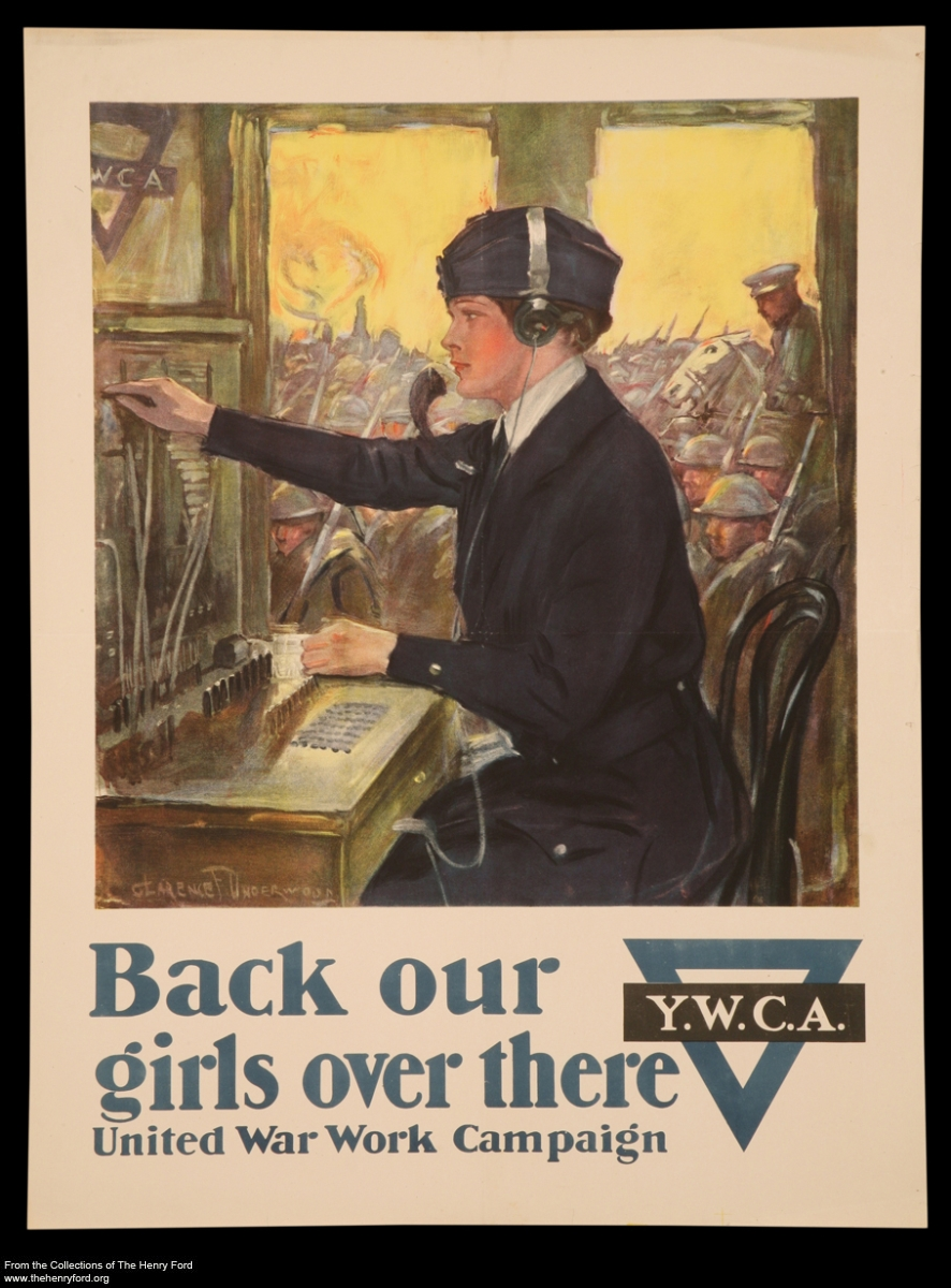 "World War I Poster, ""Back Our Girls Over There, "" circa 1918"