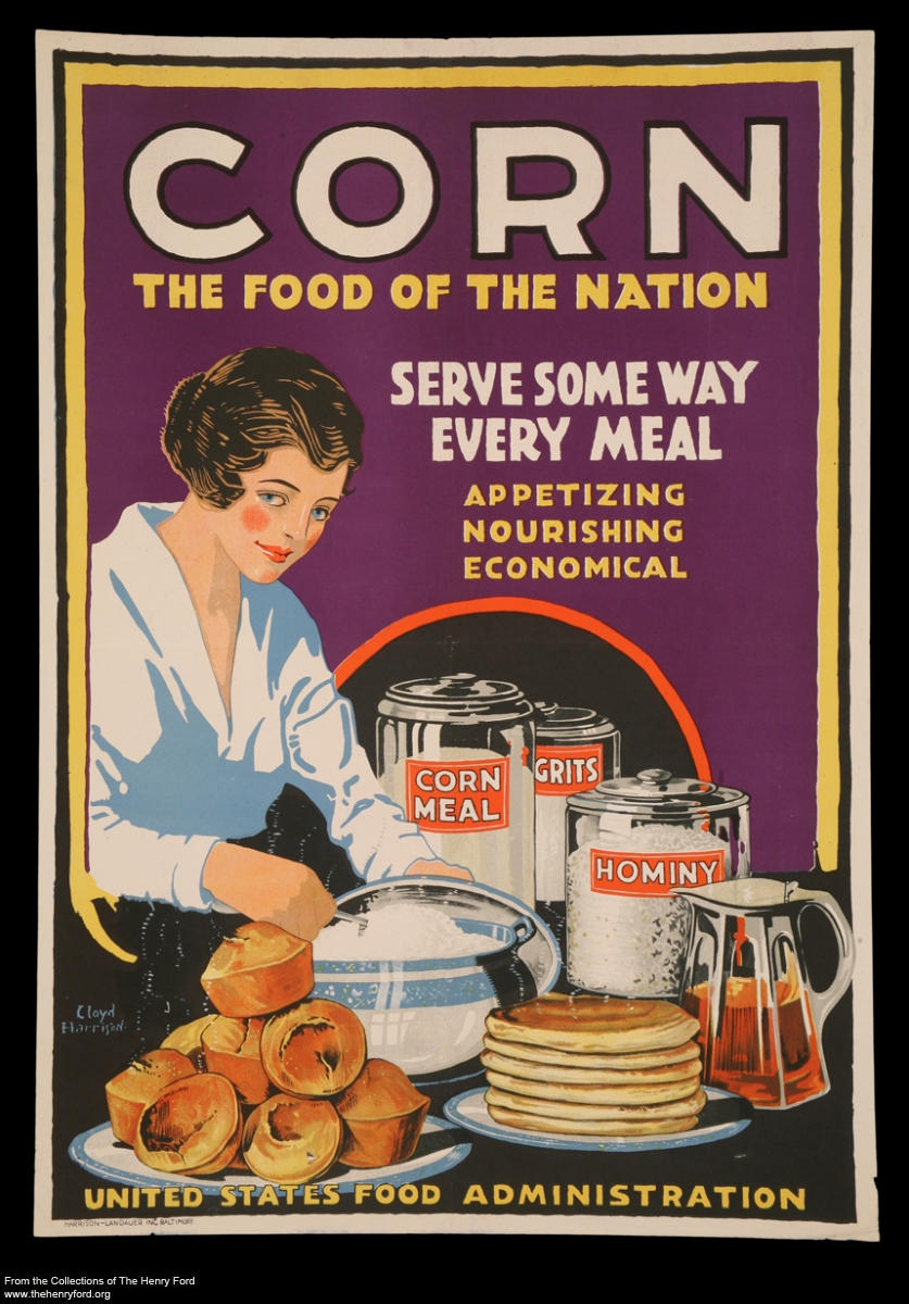 "World War I Poster, ""Corn, the Food of the Nation,"" 1918"