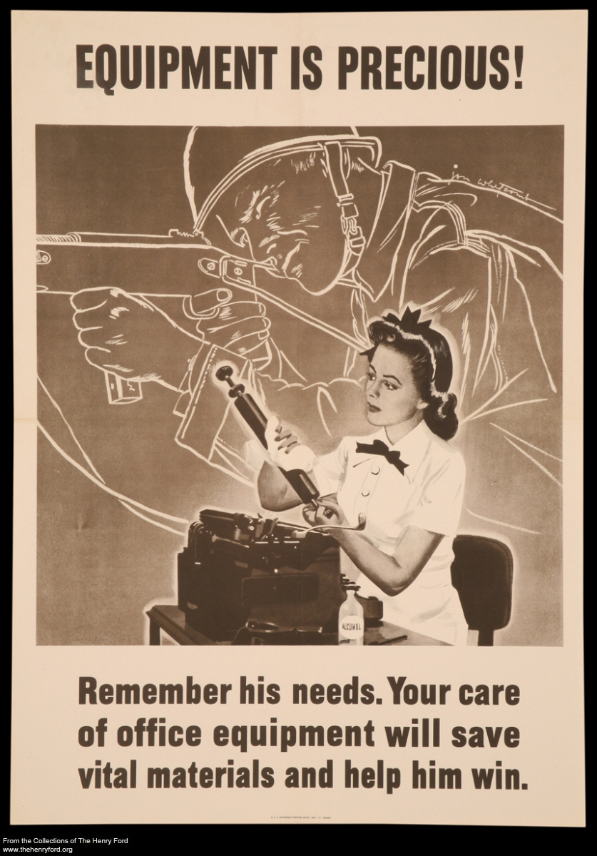 "World War II Poster, ""Equipment is Precious!,"" 1943"