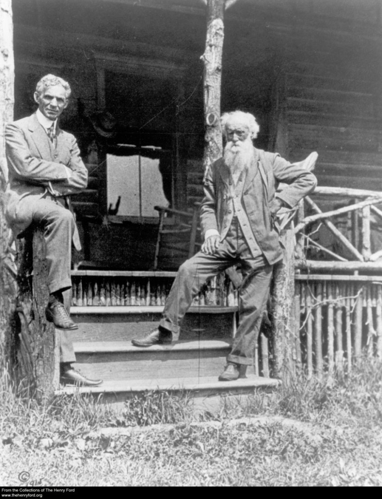 Henry Ford and John Burroughs at Woodchuck Lodge, Roxbury, New York, 1915
