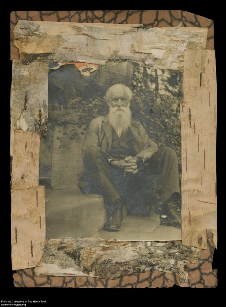 John Burroughs on the Steps at Wyndygoul, Cos Cob, Connecticut, August 1905