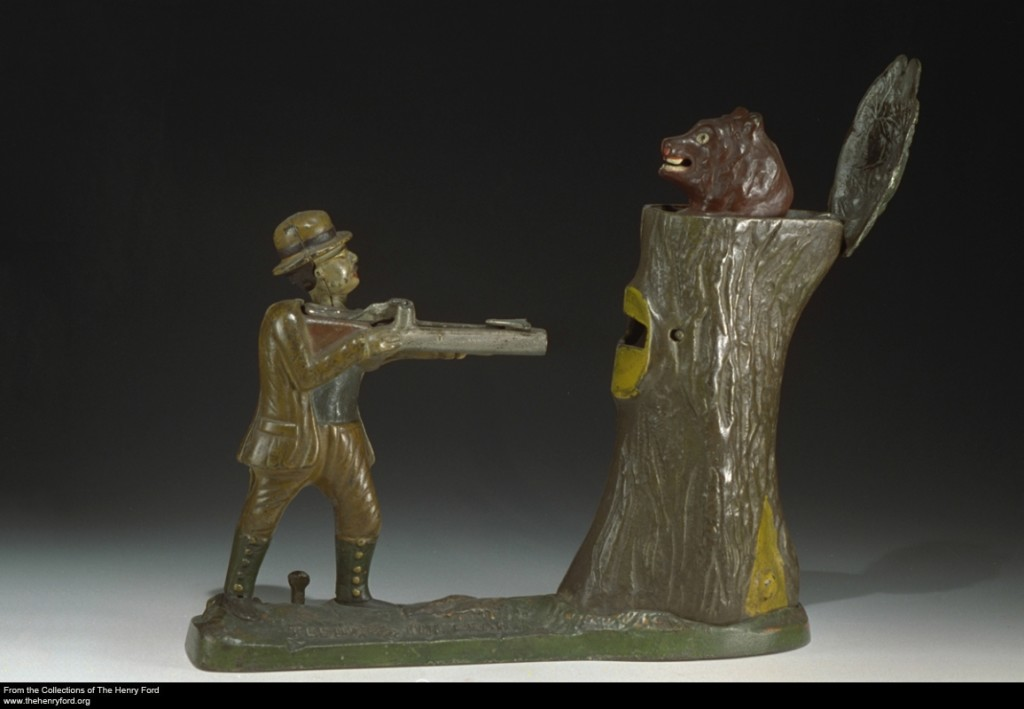 'Teddy and the Bear' Mechanical Bank, 1907-1928