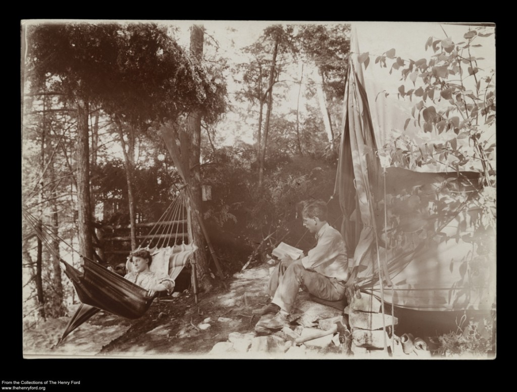 Typical Camp at Camp Iroquois, Glen Eyrie, Lake George, New York, 1911