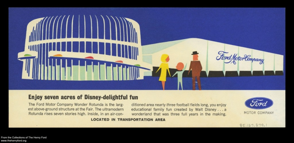 "Brochure Promoting the Ford Pavilion at the 1964-1965 New York World's Fair, ""Ride Walt Disney's Magic Skyway"""