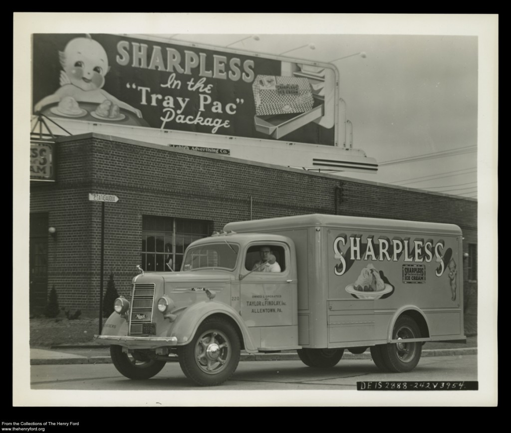 Sharpless Ice Cream Delivery Truck