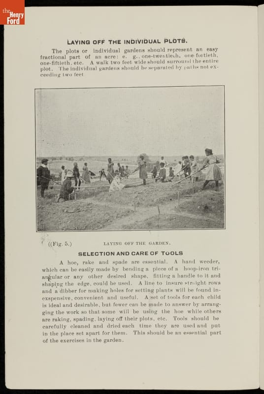 Page with text and photo of children in a field
