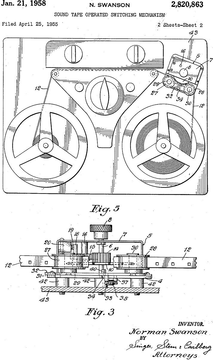 Technical drawing featuring equipment with numbers and labels