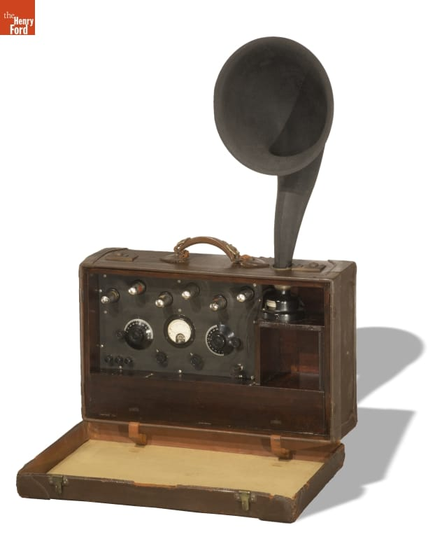 First Portable Superheterodyne Radio Receiver, Made by Edwin Howard Armstrong, 1923