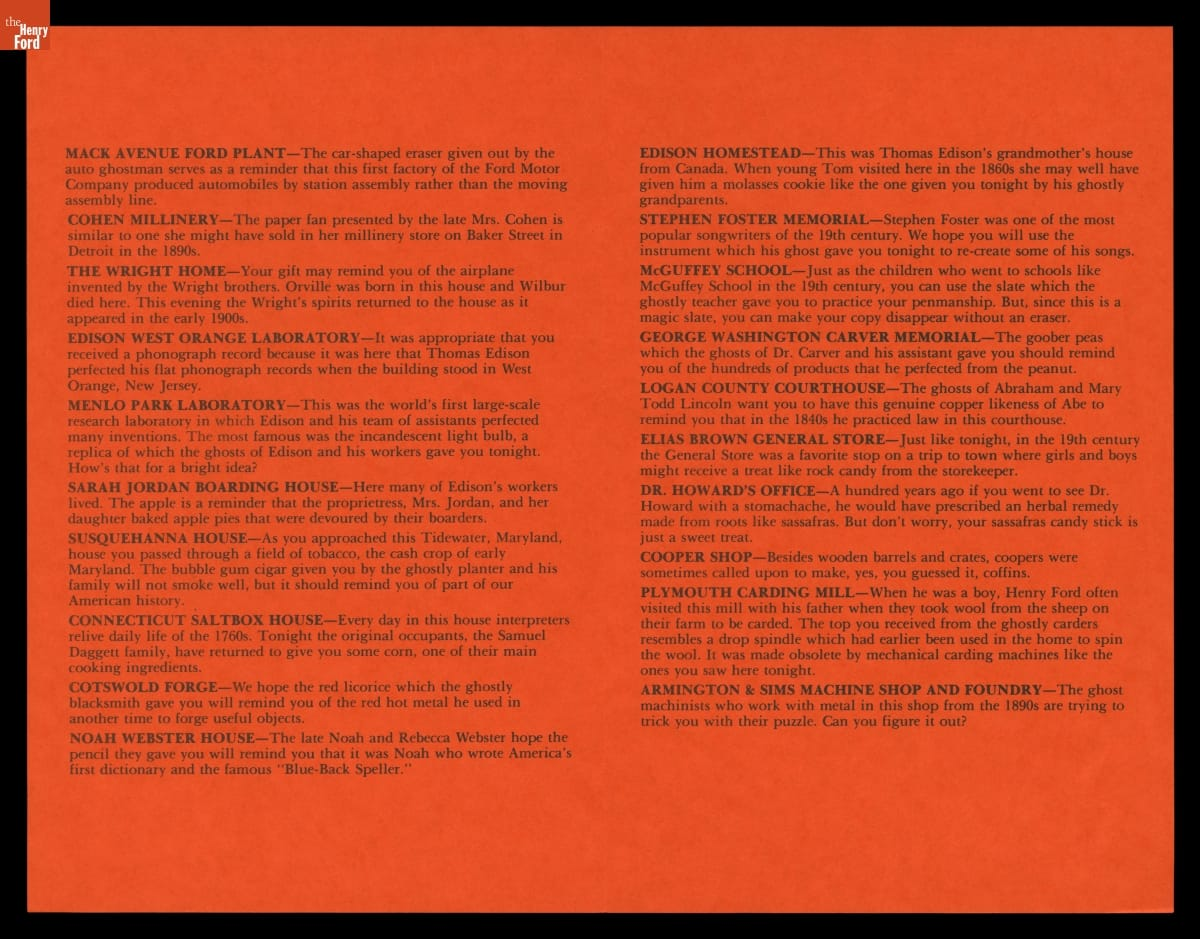 Orange page with text