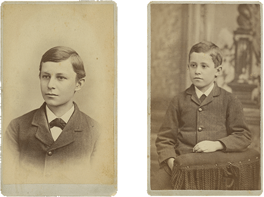 Portrait of Wilbur Wright as a Boy, 1878, Portrait of Orville Wright as a Boy, 1878