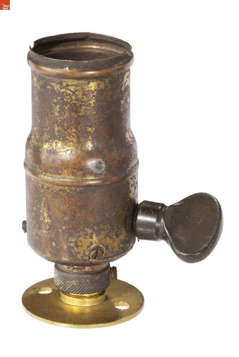 Brass cylinder with turnkey on side