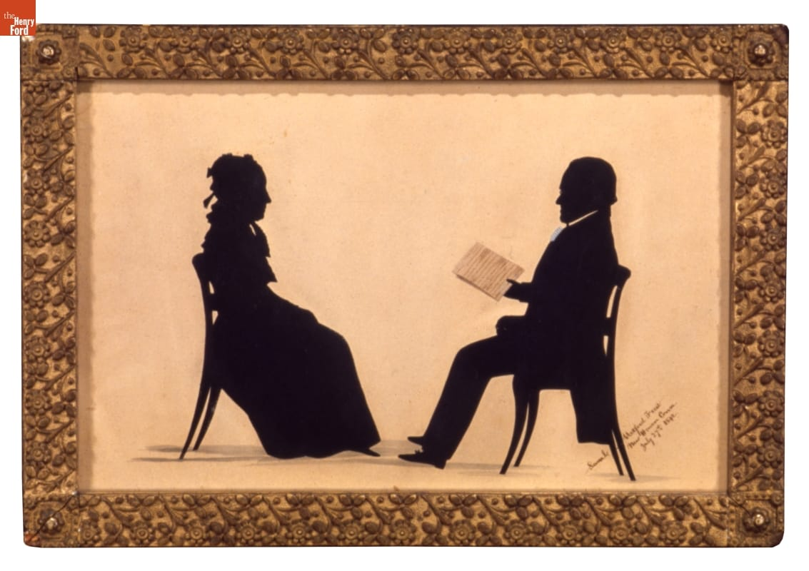Samuel Metford Silhouette of Noah and Rebecca Webster