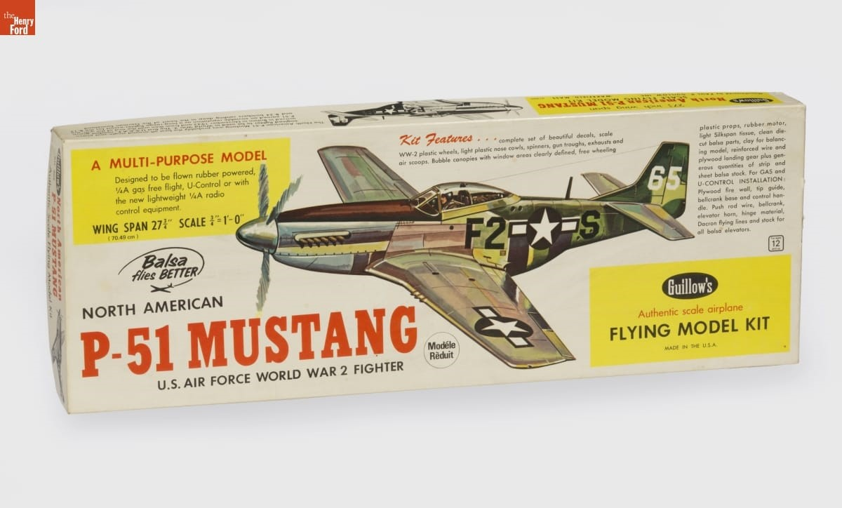 P-51 Mustang Model Airplane Kit, 1970-1980 (2016.107.1)