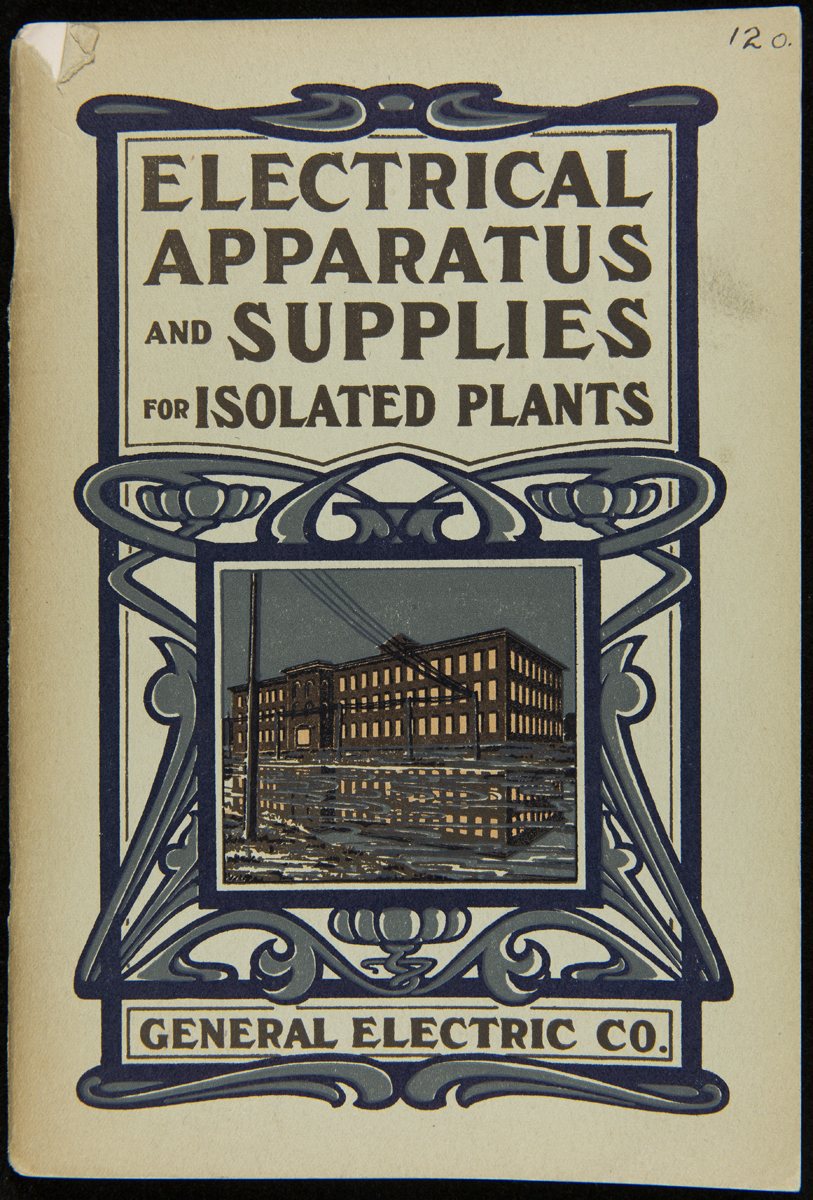 Cover with image of building, elaborate decorative pattern, and text