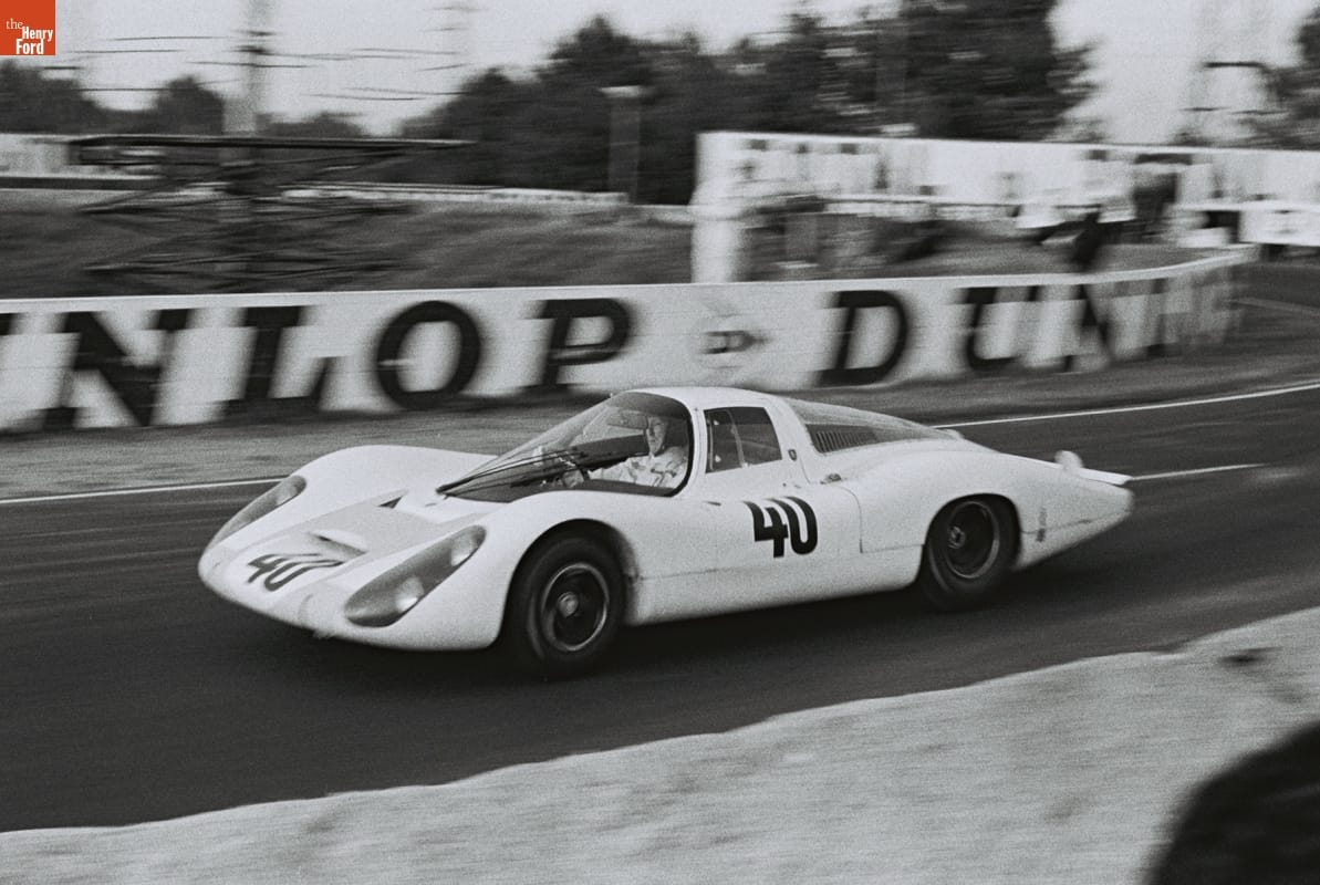 "Low race car with number ""40"" on side on race track"