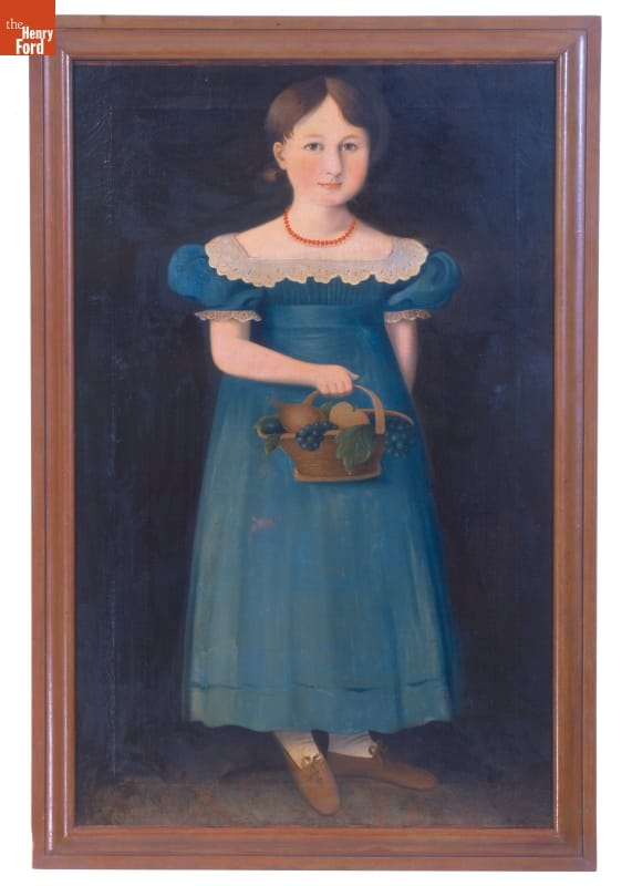 "Oil Painting, ""Sarah ... at the Age of Four,"" 1830-1840"