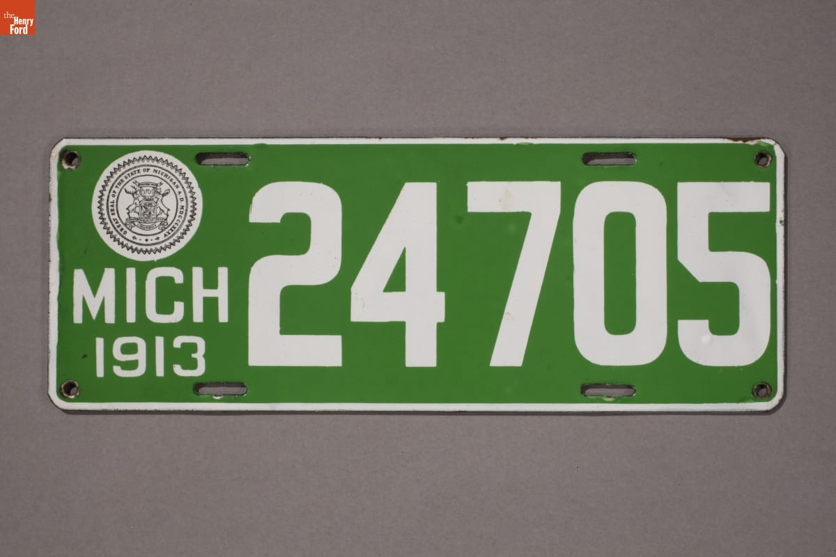 "License plate - ""Michigan License Plate, 1913"" - Michigan. Dept. of State"